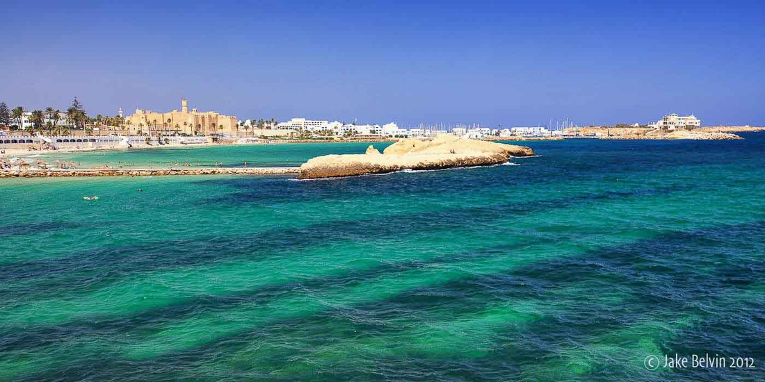 The water in Monastir, Tunisia